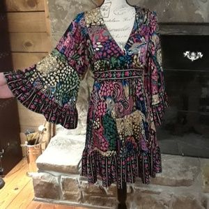 BETSY JOHNSON boho dress